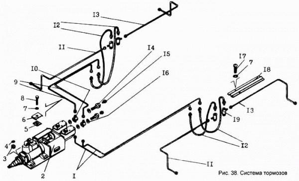 Комплект трубок тормозных ДЗ-143