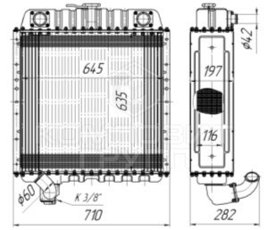 Радиатор охлаждения Т-150, СК-6,