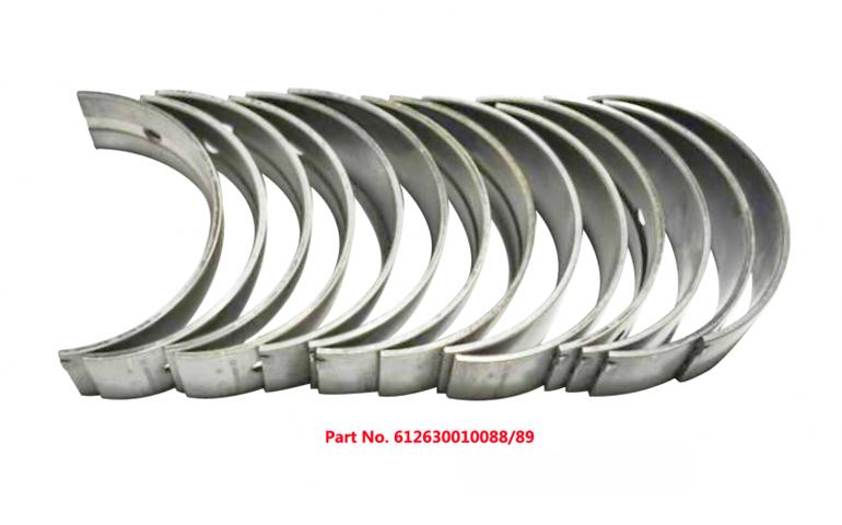 Вкладыши коренные 612630010088, 612630010089 двигателя WD12 Weichai (Вейчай)