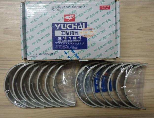 Вкладыши коренные M3000-1005005A двигателя YC6MK300N-50 (MM70A) Yuchai (Ючай)