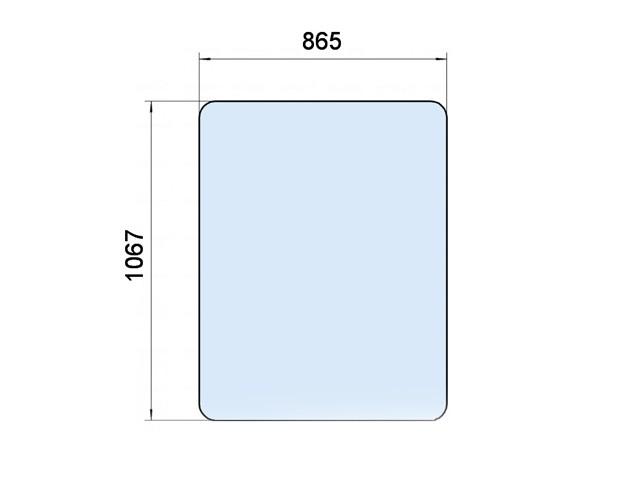 Стекло дверное КС-35716.52.016 Галичанин